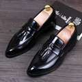 Tidog Korean men's leather shoes set foot shoes men fashion leather loafer shoes