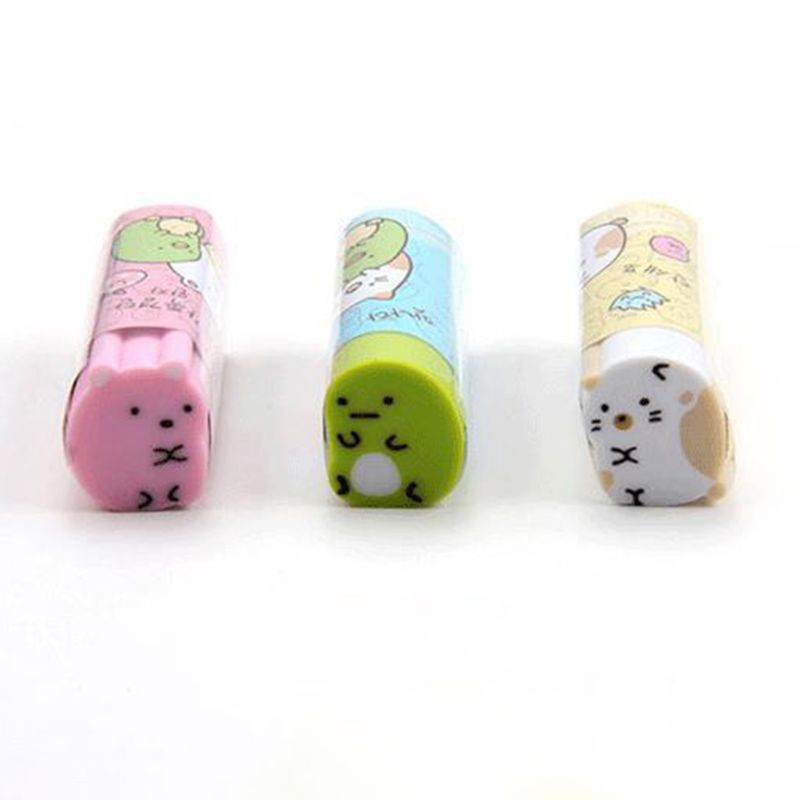 Cute Cat Rubber Eraser Pencil Erasers Stationery Student Children Kids Prizes Promotional Gift Office School Supplies