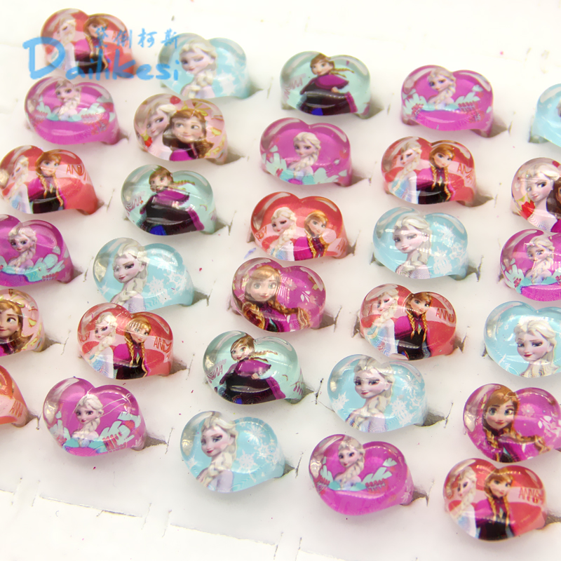 Wedding Jewellery Essar-Ring Pretty Resin Lots Princess Wholesale Children/kinds Lovely