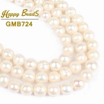 72b130a24d32 14 pulgadas 6-7mm blanco perla de agua dulce arroz Cuentas - a ...