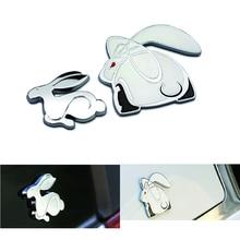 3D Metal Running Rabbit Emblem Car Rear Trunk Badge for VW Jetta Golf GTI Polo Universal Car Accessories Car Decoration цены