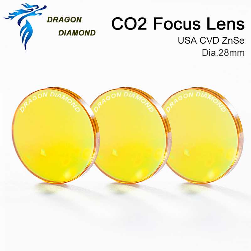 USA ZnSe Co2 Laser Lens 28mm Dia 50.8mm 63.5mm 2inch 2.5inch Focus Length For CO2 Laser Cutting Machine-in Lenses from Tools    3