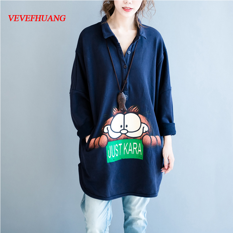 New Autumn Winter Womens Sweatshirts Hoodies Plus Thick Long Sleeve Kawaii Cartoon Printing Oversized Hoodie 6XL