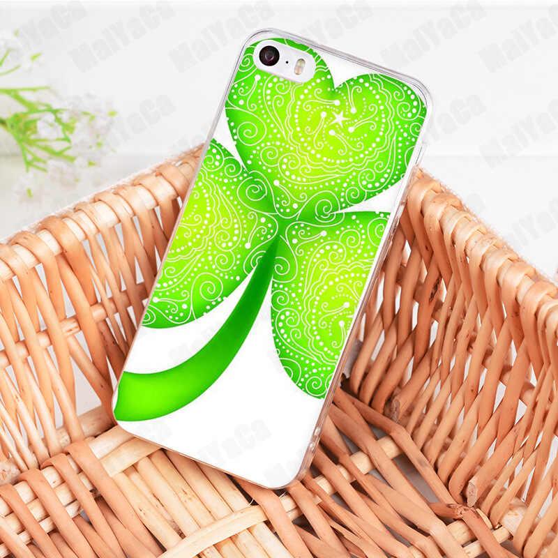 MaiYaCa trevo de quatro folhas Sorte folhas Coque Shell Caixa Do Telefone para iphone 11 Pro 8 7 6 6S Plus X 5 5S SE XS XR XSMAX