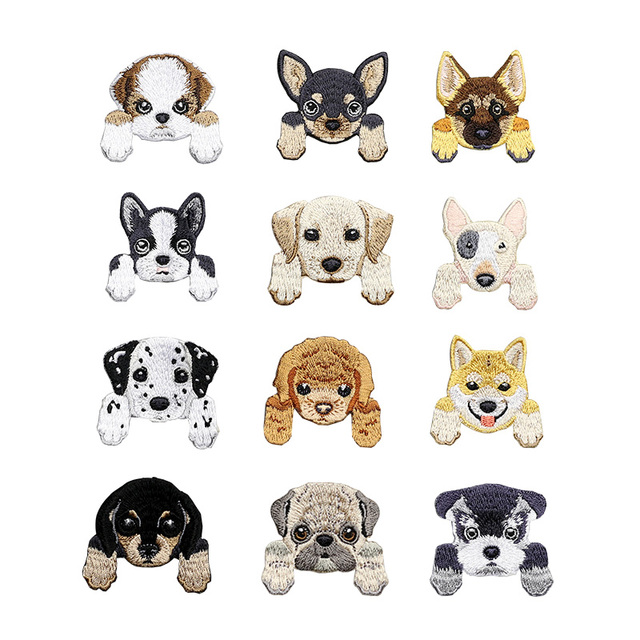 1 Piece Cute Chihuahua Shiba Dog patch baby's clothing patches backpack decoration small applique small cat iron on patch