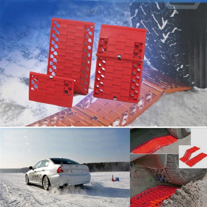 2pcs Trucks Snow Chains For Wheels Car Foldable Anti-skid Plat Mud Tires Protection Chain Automobiles Roadway Safety Accessories