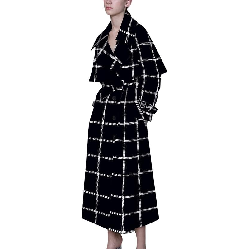Vintage Plus Größe Lange Windjacke Elegante Europäischen Stil Mantel 2018 Schlank Herbst Kleidung Weibliche Graben Mantel Für Frauen A429