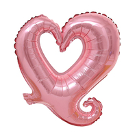 FBIL Heart Shape 18 Inch Foil Birthday Party Supplies Wedding Decor Balloons Lot Pink 50pcs