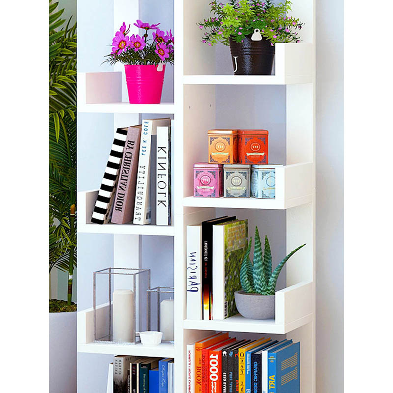 Modern minimalist bookcase Creative Multifunctional student storage bookshelf Nordic large capacity bookcase Home Furniture-in Bookcases from Furniture on ...