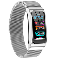 AK12 Smart bracelet Color Screen Ip67 Waterproof Women's Watch sphygmomanometer menstrual cycle activity monitor Sports Band