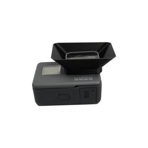 Image 1 - 3D Baskı Gopro Hero 5 için Spor Kamera Lens Hood Güneşlik Gölgeleme Kapağı Anti Parlama Hood Kapak Gopro Hero 5 eylem Kamera