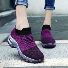 2019 women soft running shoes breathable mesh elastic shoe women sock sneakers sport walking boot zapatillas hombre dancing shoe