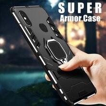 цены на Metal Ring Case For Xiaomi A1 A2 mi 8 SE Phone Case Full Cover For Xiaomi mi 8 Lite Mix2 Mix2s Soft Silicone Shockproof Case в интернет-магазинах