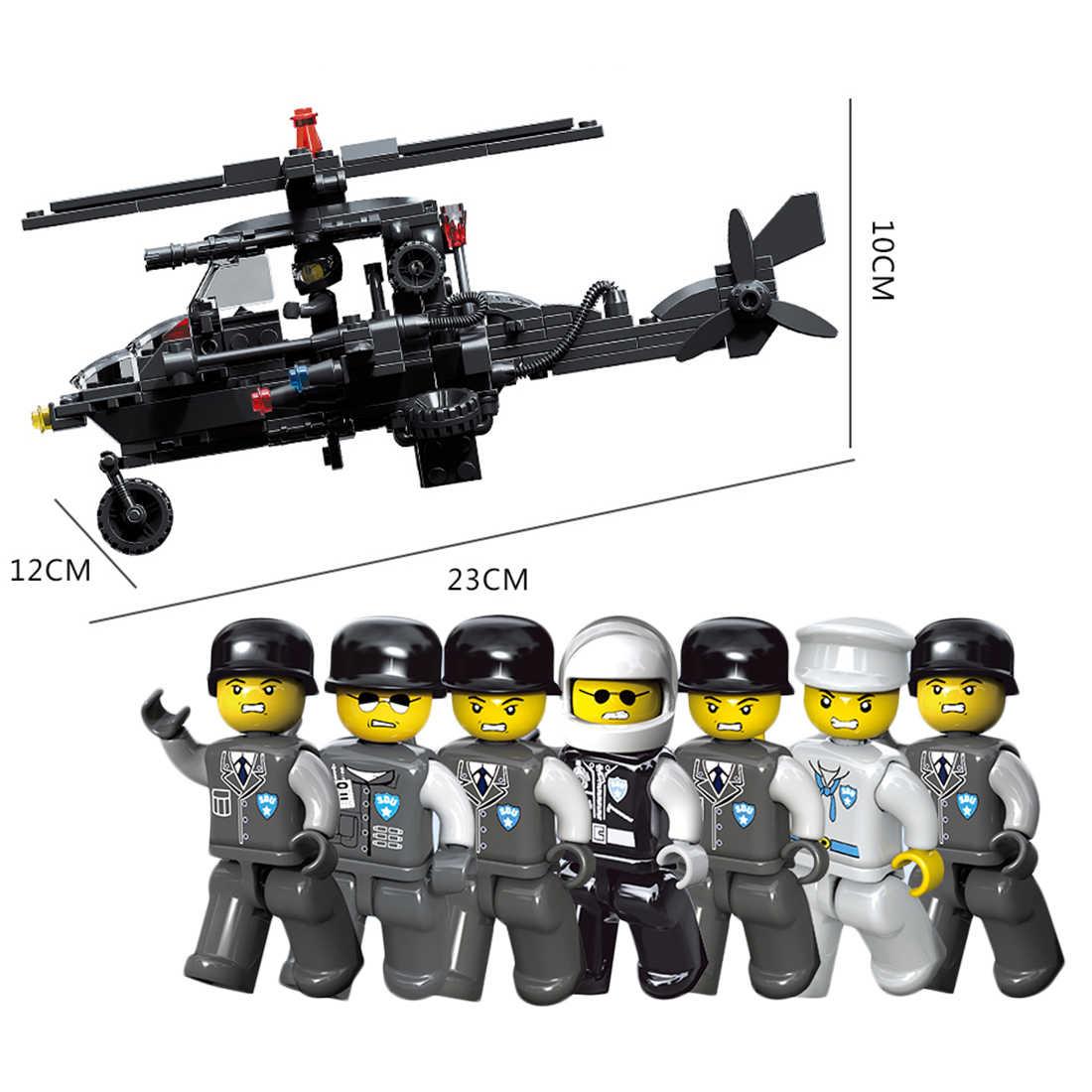 Новое поступление Прочная маленькая частица DIY Головоломка в сборе специальный полицейский SDU кукла строительный блок игрушки для детей игровые наборы