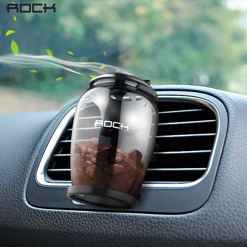 ROCCIA Aromaterapia Car Holder Universale Aroma Car Air Vent Bevanda Rinfrescante di Aria Auto Titolare di Lusso Zeolite Naturale Fragranza Car Holder