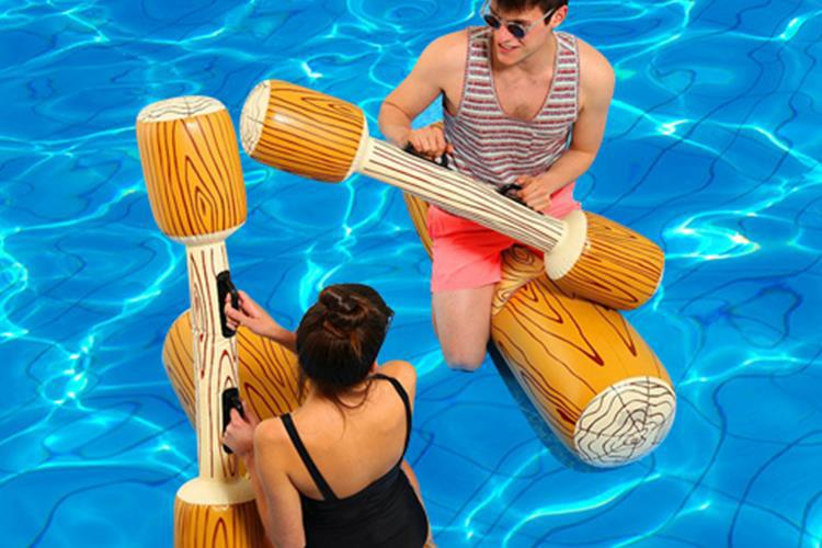 INFLATABLE Gladiator Poles OUTDOOR GLADIATOR GAME SET SUMMER FUN Adult Kids Gift