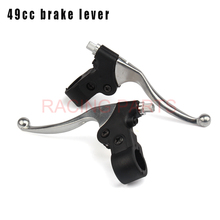 Alloy 7/8 Gas Scooter Left Right Handle Brake Levers For 47cc 49cc Mini Moto Kids Pocket Dirt Bike Free shipping