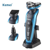 Kemei 3 In1 Professional Washable Rechargeable Electric Shaver Triple Blade Electric Shaving Razors Men Face Care