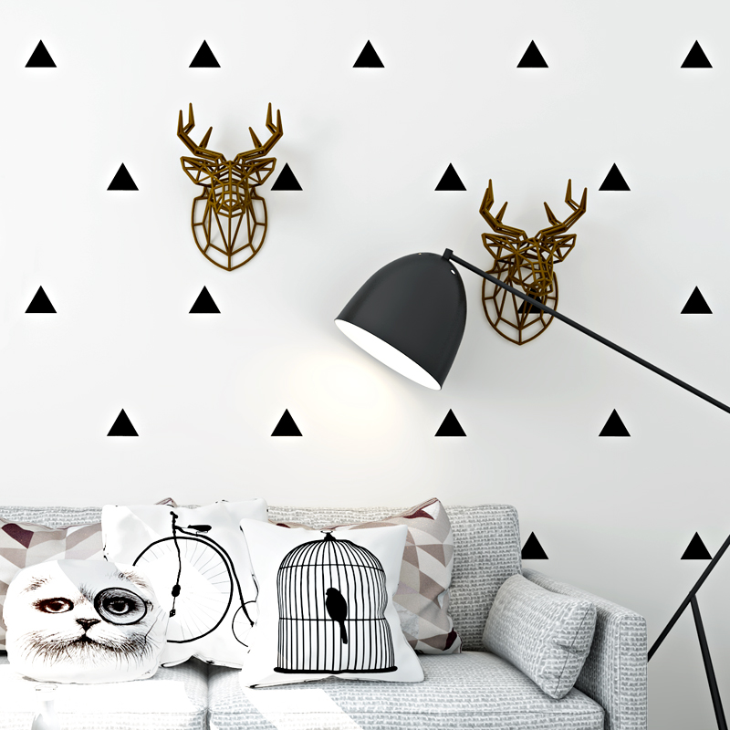 Nordic Style Wallpaper Modern Simple Geometry Black And White Triangle Wall Paper Living Room Bedroom TV Background Wall Decor акустика центрального канала heco music style center 2 piano white ash decor white