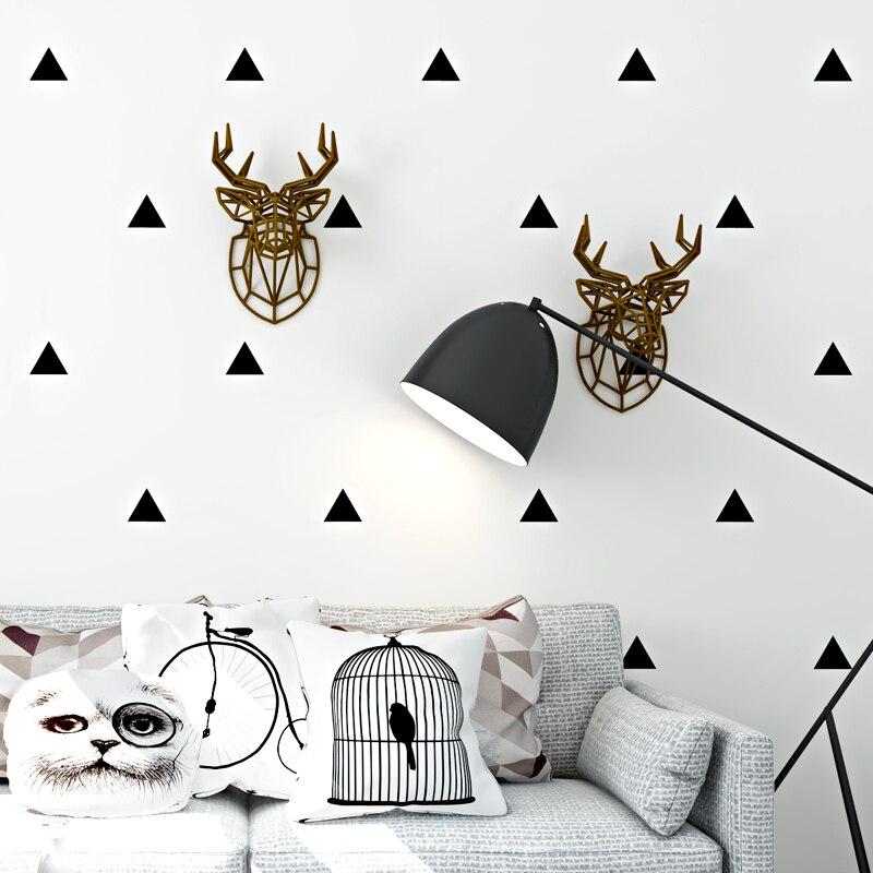 Style nordique Papier Peint Moderne Simple Géométrie Noir Et Blanc Triangle Mur Papier Salon Chambre TV Fond Mur Décor