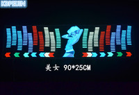 car styling neon light car LED music Rhythm sticker for Chevrolet cruze aveo captiva trax epica spark accessories 90*25cm