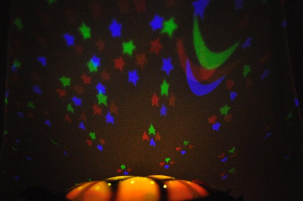 4Pcs/Lot Tortoise Shadow Lamp With Music Sleep Starry Sky Lamp Creative Baby Valentines Gift Dolls Stuffed  Plush Toys