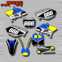Motorcycle Customized Graphics Background Decals Stickers Kits For Yamaha YZ80 YZ85 YZ125 YZ250 YZ250F YZ450F WR250R WR450F