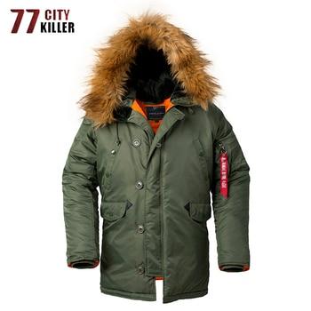 High Quality Winter Jacket Men Outwear Windbreaker Fur Collar Mens Parka Hooded Streetwear Long Coat chaqueta hombre Size XS-2XL