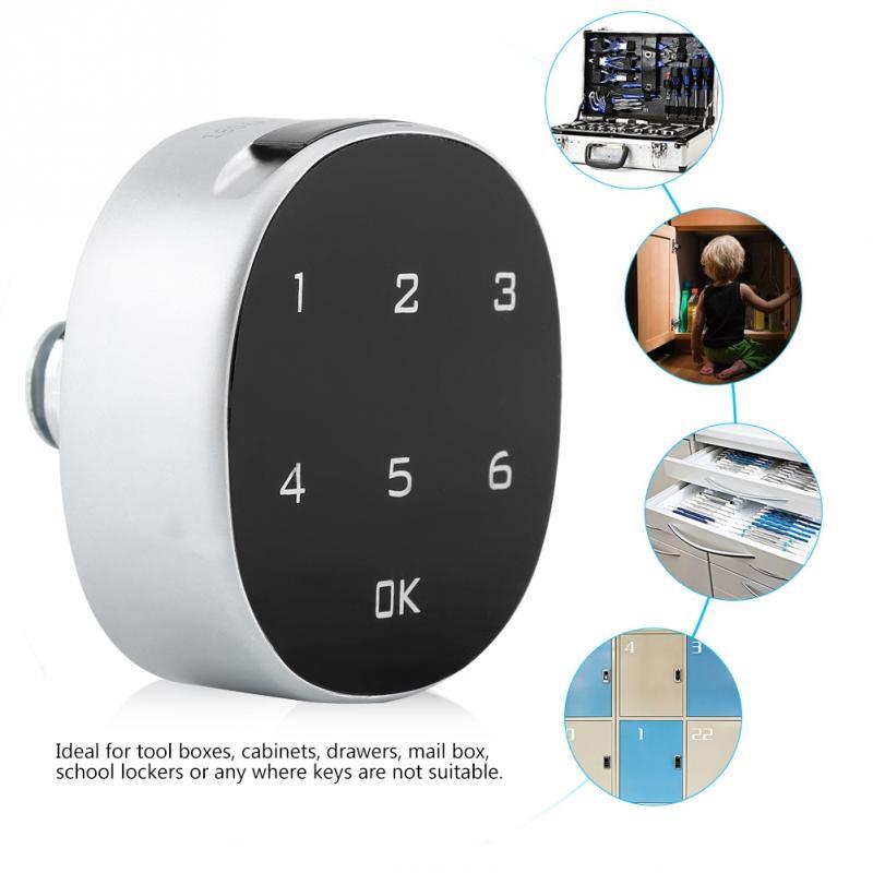 Cabinet Safe Lock Digital Zinc Alloy Digital Password Safety Combination File lock Electronic Keyless Locks Furniture Hardware|Cabinet Locks| |  - title=