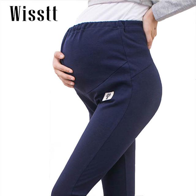 Wisstt Plus Size além de Veludo Espessamento Inverno Maternidade Leggings Calças Para Mulheres Grávidas Quente Cintura Alta Calças de Gravidez