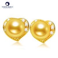 YS 925 Silver 7 7.5mm Natural Cultured Japan Akoya Pearl Stud Earrings Fine Jewelry