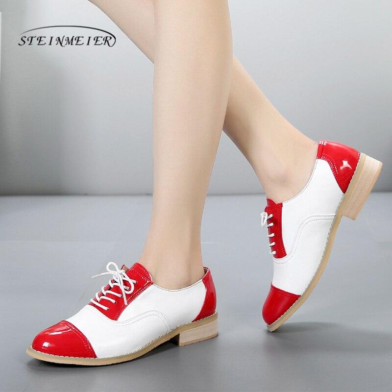 2019 wanita oxford kasut flat kulit tulen kasut rata buatan tangan kasut menampal kasut oxfords vintaj untuk wanita dengan bulu
