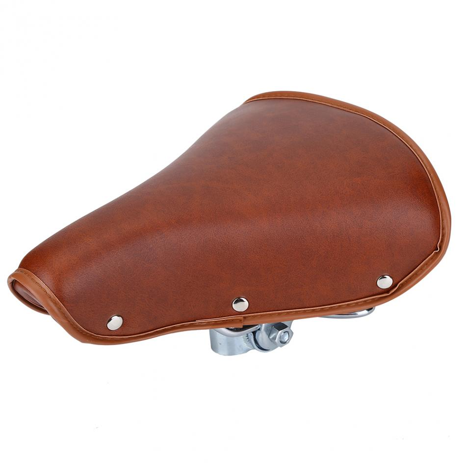Excellent Us 19 19 34 Off Pu Leather Metal Bicycle Saddle Brown Color Bicycle Seat Cover Durable 25 X 20 Cm Bike Saddle Seat Soft And Comfortable In Bicycle Ibusinesslaw Wood Chair Design Ideas Ibusinesslaworg