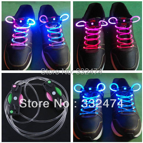 2017 New Silicone Shoelaces Neon Flash shoe lace colorful luminous led shoelace for skating shoes party shoes 45 neon orange 5 16 flat shoelace for all basketball shoes