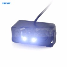 DIYKIT Waterproof Packing Radar Sensor Automotive Reverse LED Night time Imaginative and prescient Rear View Automotive Digicam Extensive Angle for Parking Help Package