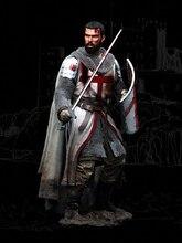 Unassambled 1/18 90Mm Templar Knight, Xii Eeuw Figuur Historische Resin Kit Miniatuur Model Unpainted