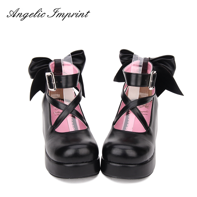 Women's Criss Cross Strappy Wedge Shoes Pumps Sweet Lolita Princess Party Shoes купить в Москве 2019