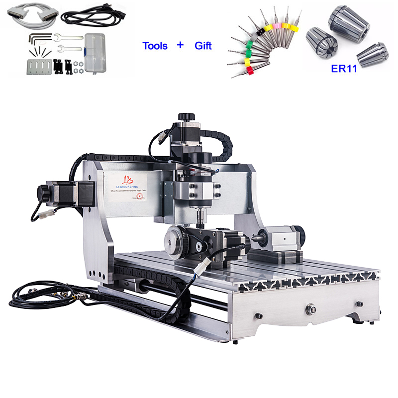 3040 Wood CNC Router 4 Axis 3D Engraving Milling Machine