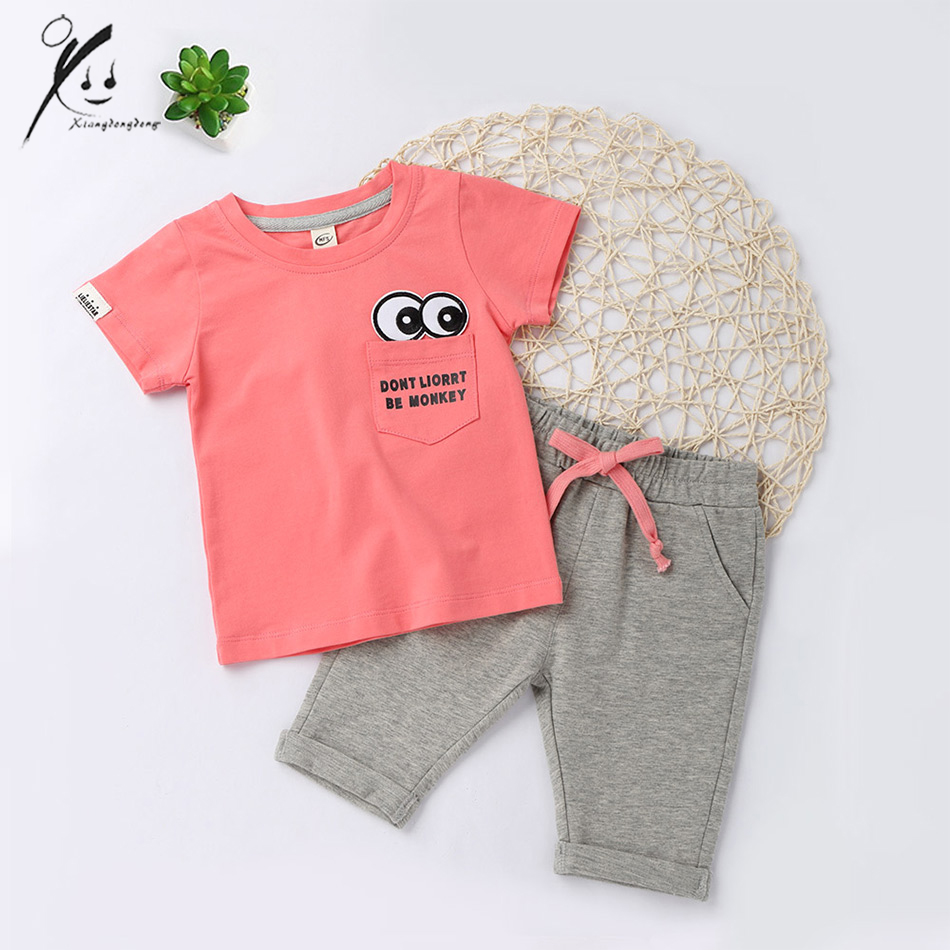 tracksuit 2pcs girls summer clothes set toddler baby clothing sets kids sport suit t shirt+shorts for 3 years XDD-E2003 retail kids 2017 baby girls clothes summer girls clothing sets kids clothes girl denim t shirts denim shorts sets 2 6 years 2