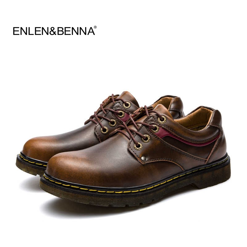 Enlenbenna Brand Handmade Breathable Men's Oxford Shoes Top Quality Dress Shoes Men Flats Genuine Leather Casual Shoes Men top brand high quality genuine leather casual men shoes cow suede comfortable loafers soft breathable shoes men flats warm