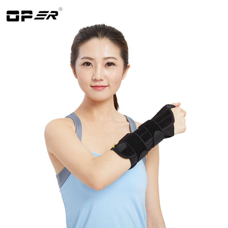OPER New Finger Splint Wrist Thumb fixation Brace Support Wristbands orthosis Stabilizer Brace 3 Aluminum Splint Inside Scaphoid sport cotton wrist brace wrap support black