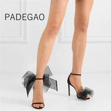 Women High Heels 2019 Summer Sexy Club Bow Fashion Sandals Wedding Party Korean Style Womens Shoes