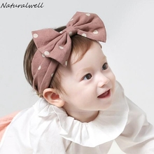 340b7c661 Naturalwell Baby Girl Bow Headband Toddler Topknot Turban Infant Hair Bows  Knotted Headbands Kids Hair Accessories