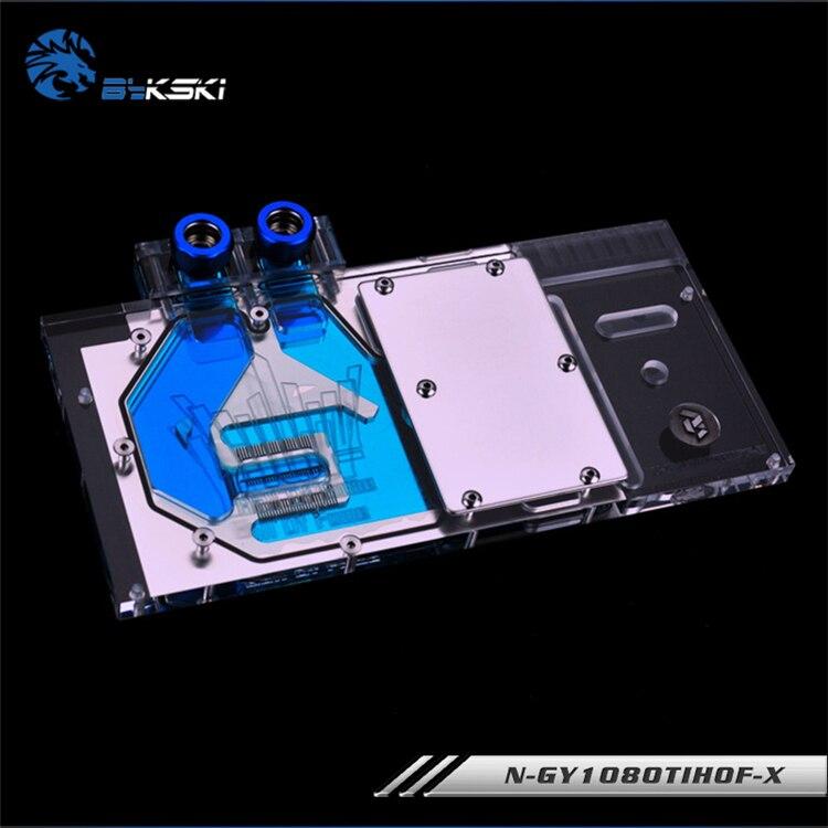 Bykski N-GY1080TIHOF-X GPU Water Cooling Block for Galax GTX 1080Ti HOF bykski n ig1060oncev2 x gpu water cooling block for colorful gtx1060 gaming
