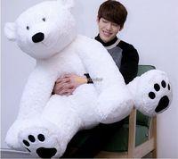 Fancytrader Best продажи 49 ''/125 см jumbo гигантский плюша полярный медведь игрушка, отличный подарок для детей, бесплатная доставка ft50712