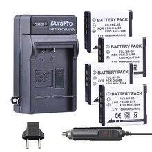 4 шт. 1500 мАч NP-50 NP50 KLIC-7004 K7004 D-Li68 Камера аккумулятор + зарядное/Car Зарядное устройство для Fujifilm FinePix F50FD f60FD F70EXR F75EXR