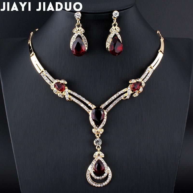 Aliexpress Com Buy New Fashion Necklace Earrings Bridal: Aliexpress.com : Buy Jiayijiaduo New Fashion Women Wedding