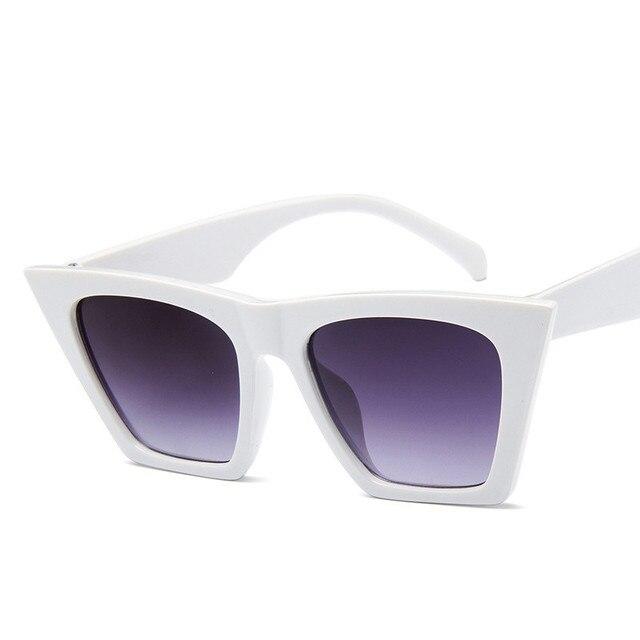 Plastic Vintage Luxury Sunglasses Candy Color Lens Classic Retro 1