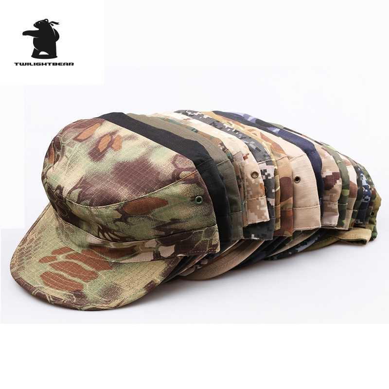 Много цветов камуфляжная Военная Кепка s Army Shako высокого качества 58 см 59 см 60 см утолщенная шапка солдата армейская шапка AE02
