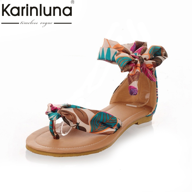 Brand New 2016 Flower Printing 34-43 for women Summer Sandals Air Mesh Ribbon Sweet Ladies fashion Leisure shoes bohemia style nobrand ck 056a